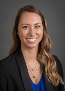 A portrait of Nicole Graf of the Department of Health Management and Policy at the University of Iowa College of Public Health.