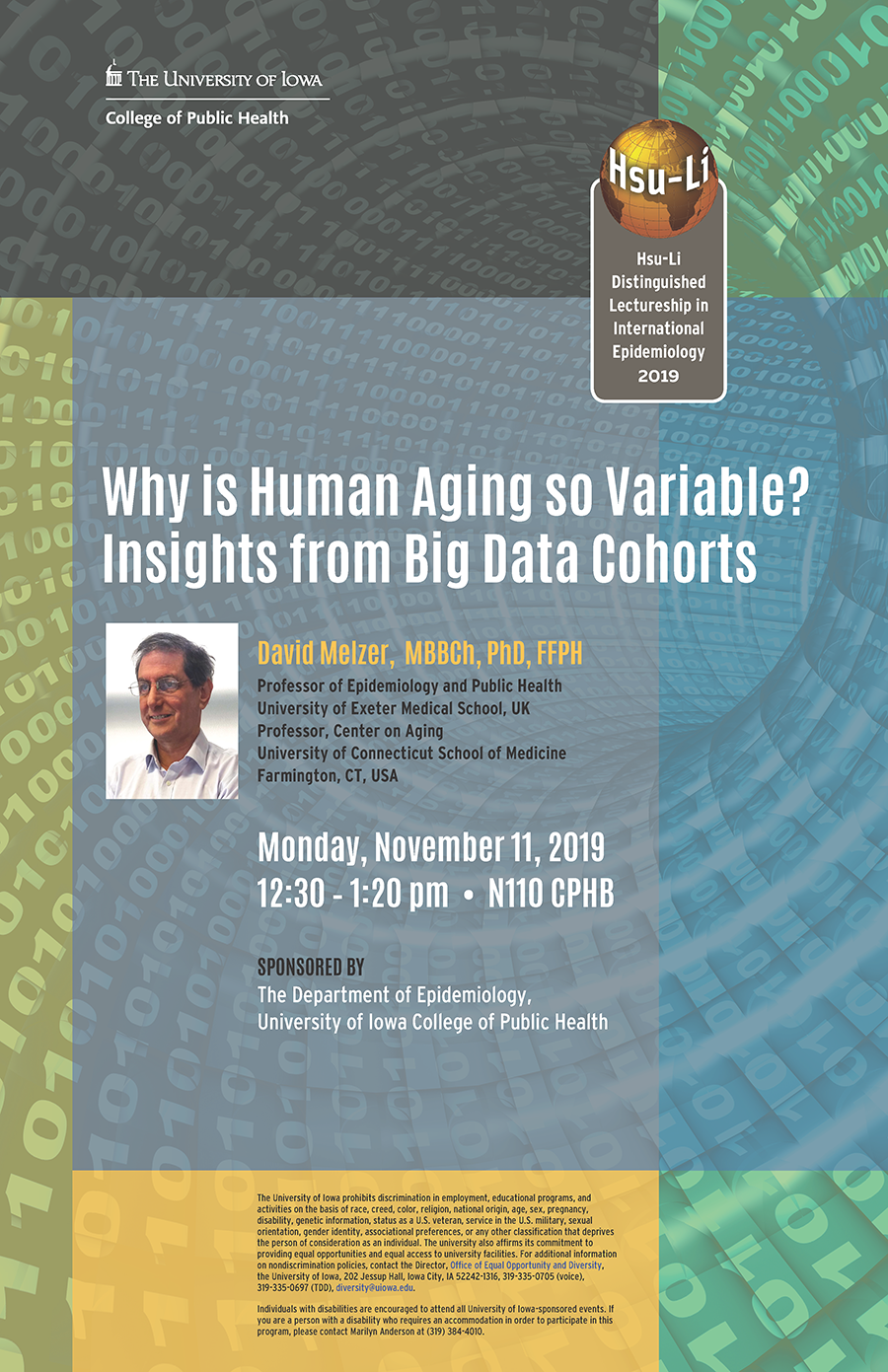 poster for the 2019 Hsu-Li lecture by David Melzer