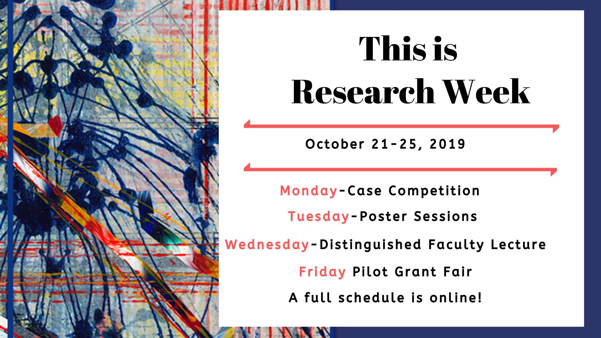 Save the Date for Research Week: Oct 21-25