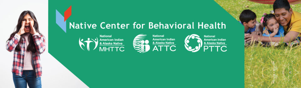 Natice Center for Behavioral Health wordmark long with three centers and photos