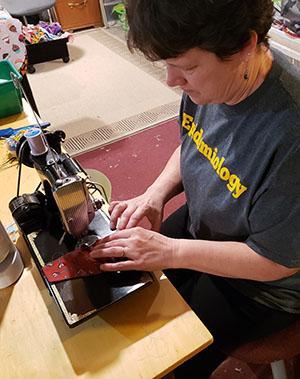Michele Hogue sewing masks