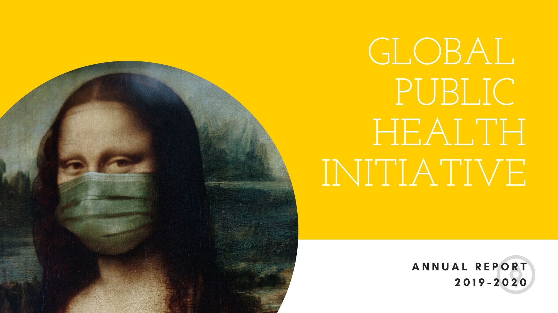 Global Public Health Annual Report cover, 2019-2020