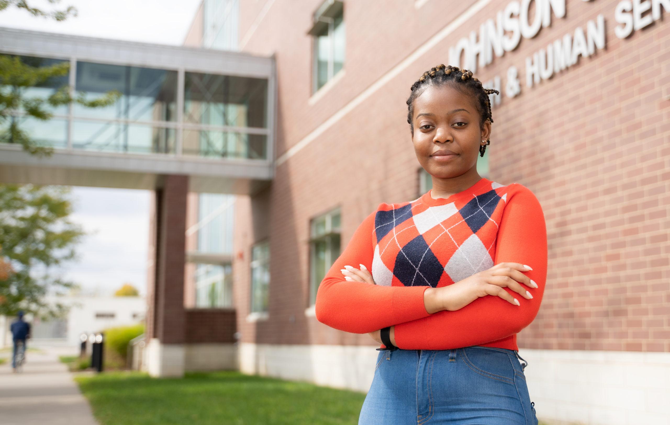 portrait of student Rebecca Nyangufi