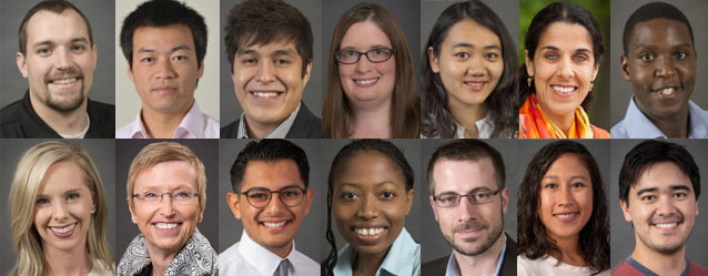 Collage of portraits of Epidemiology faculty, staff, and students.