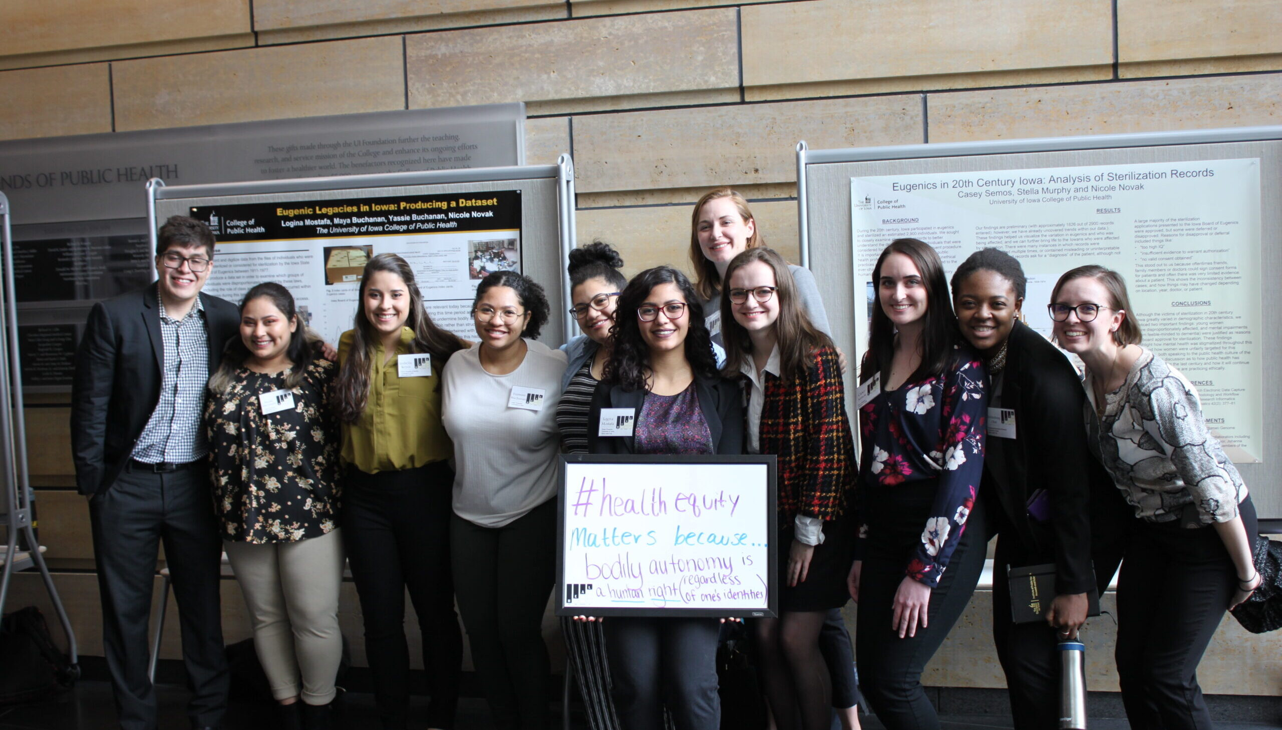 Students pose at the Science of Health Equity Summit