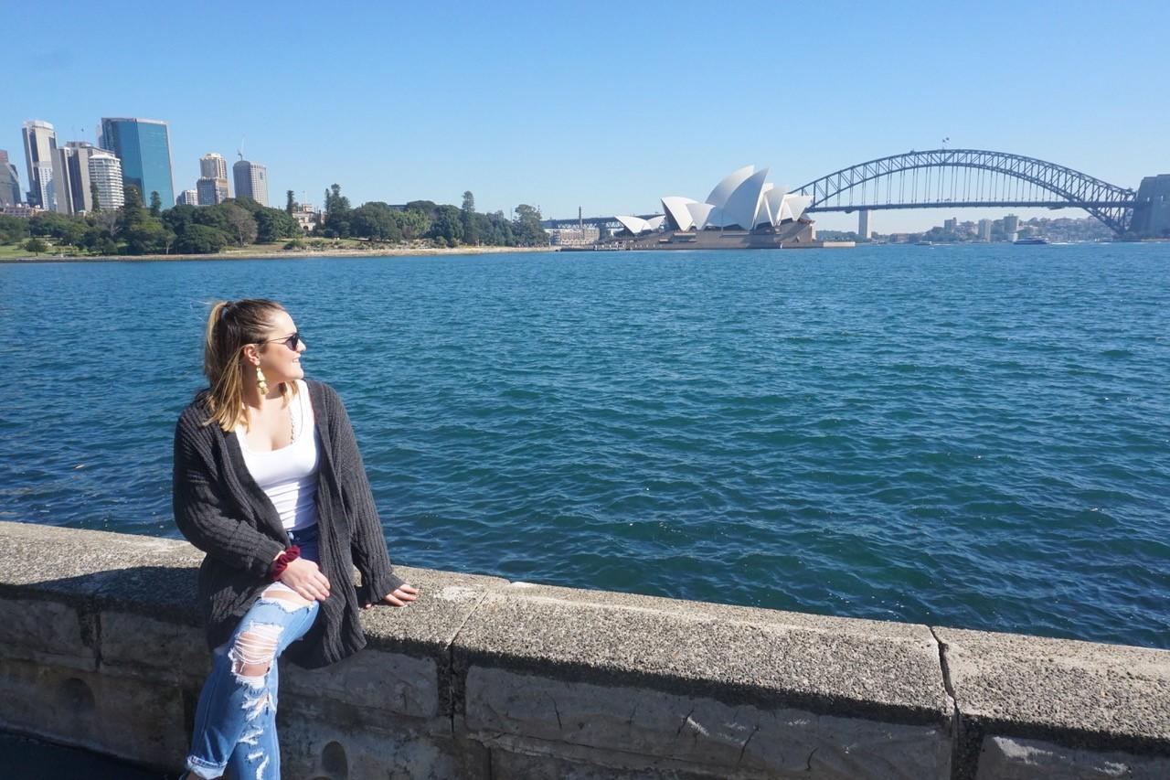 Erin Taber in Australia