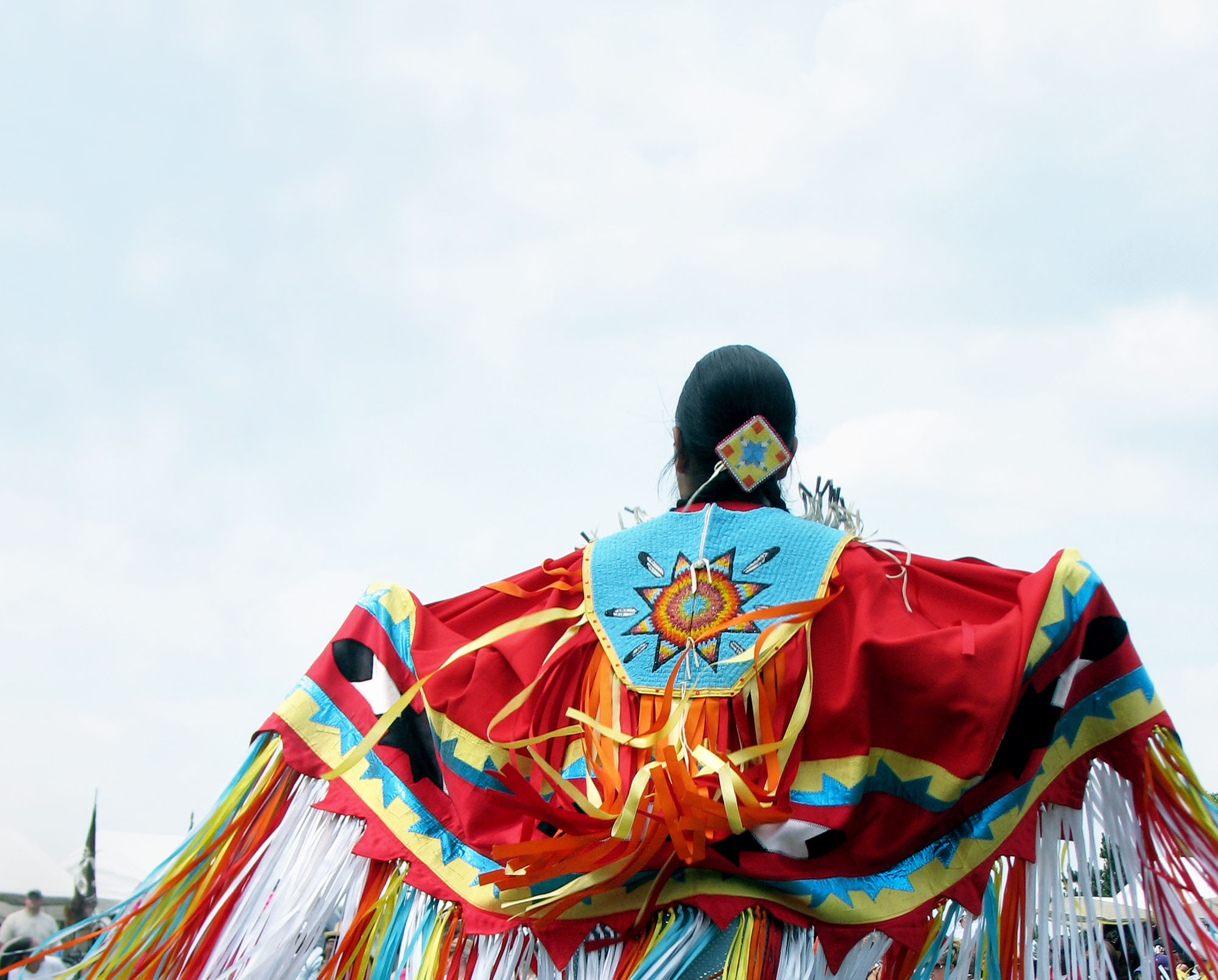 native dancer at a powwow