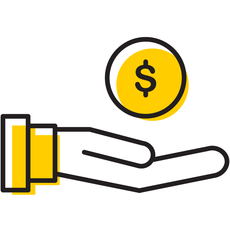 Scholarship funding icon