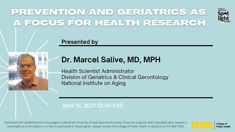 National Institute on Aging webinar flyer