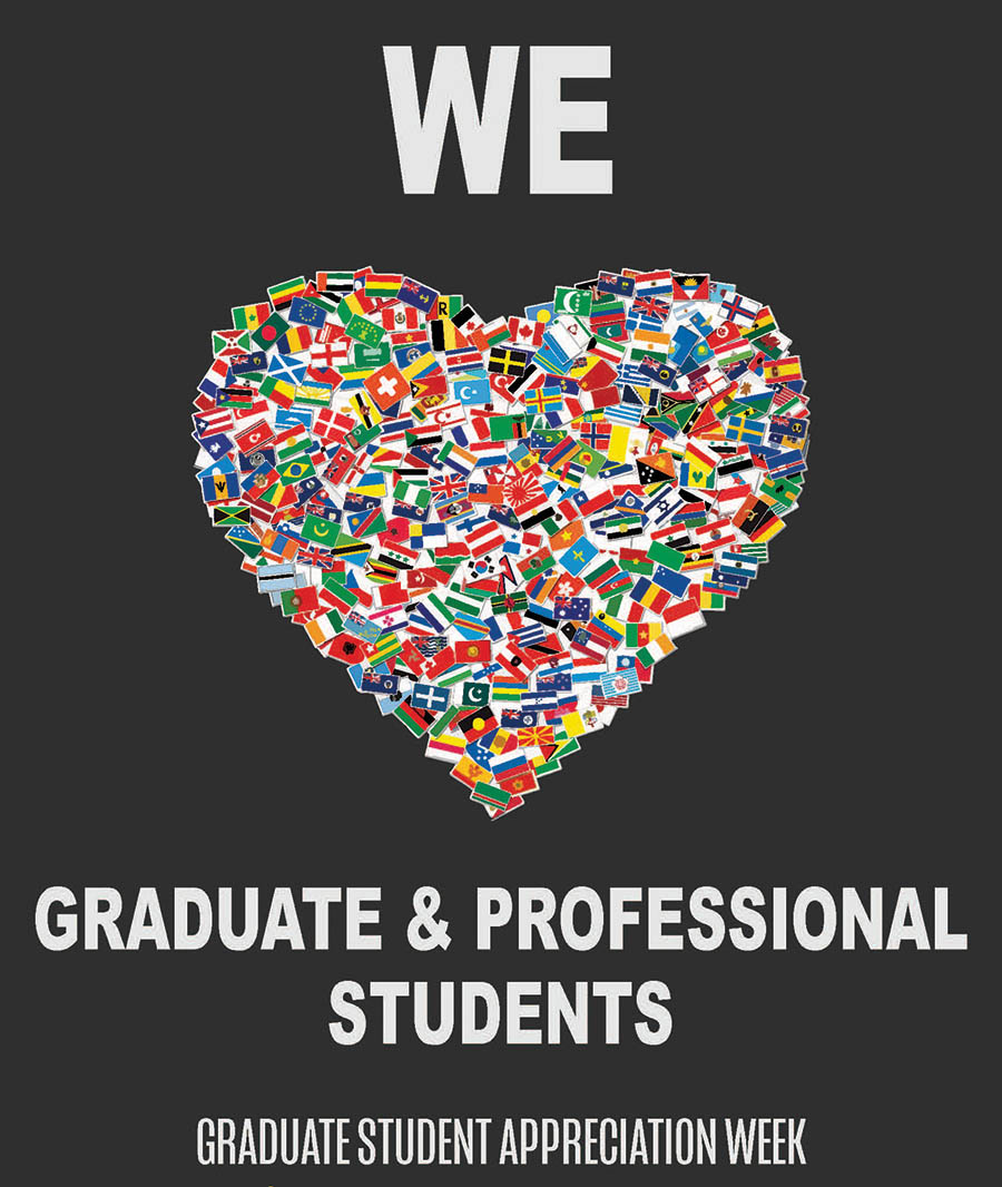 Graduate and Professional Student Appreciation Week heart poster