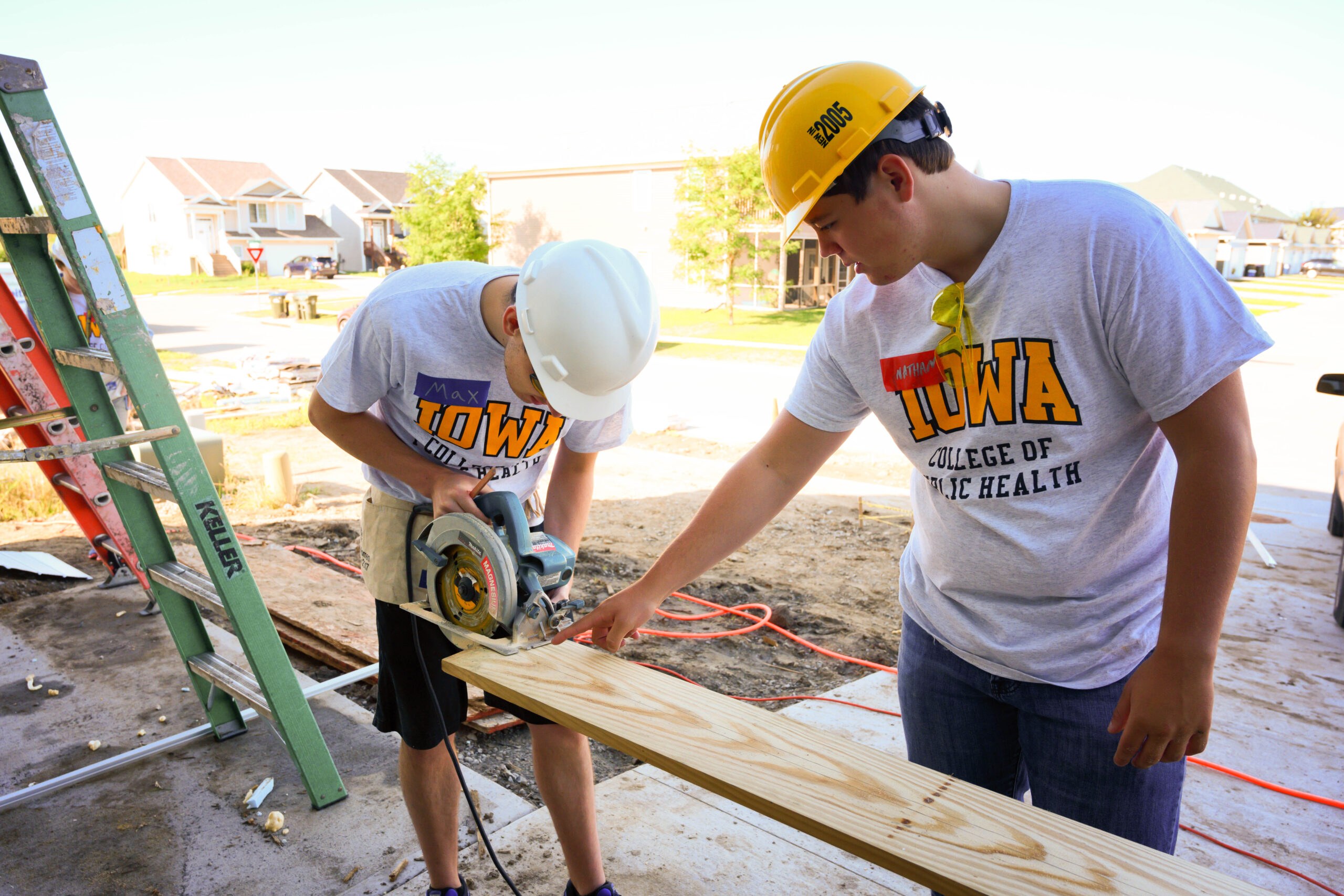 CPH students help on a construction site for the 2019 CPH Day of Service