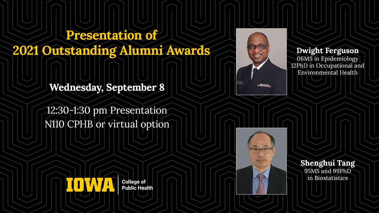 2021 Outstanding Alumni Award recipients